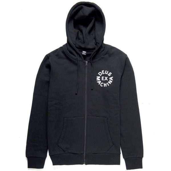 Deus Ex Machina Circle Logo Hoodie - Black-Copy