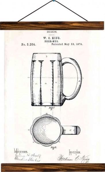 Vintage Lehrtafel  - Beer mug patent