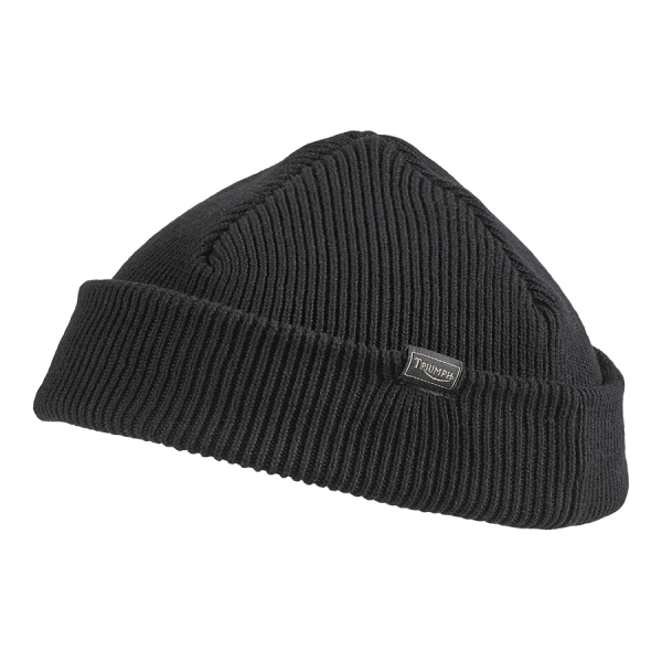 Triumph Motorcycles Farrington Rib Beanie - Black