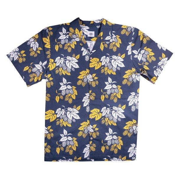 Schönwetterfront Hopfen Hawaiihemd - dunkelblau