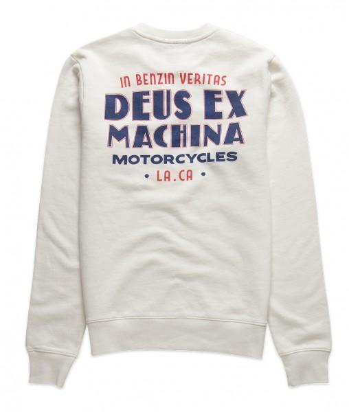 DMF208614 - DEUS Celluloid Crew Vintage Sweatshirt White