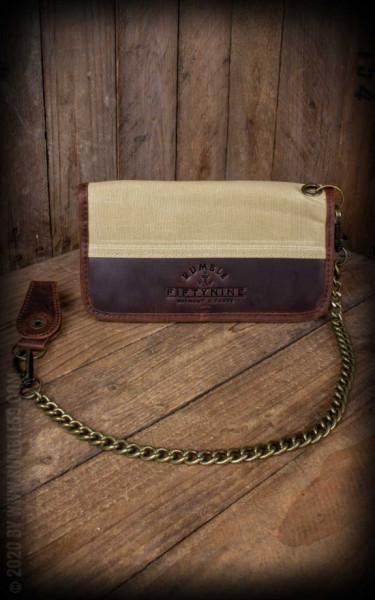 RUM285 Rumble59 Canvas Leder Wallet - BEIGE