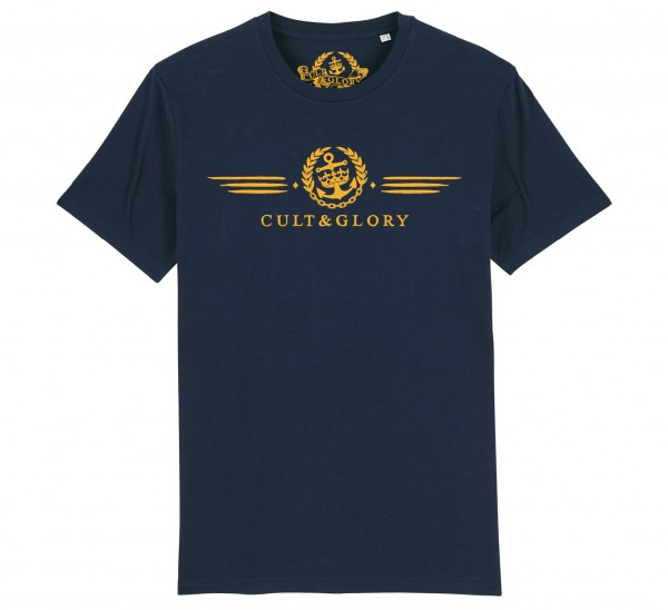 Cult & Glory Winged Shirt 2019 - Navy Blue