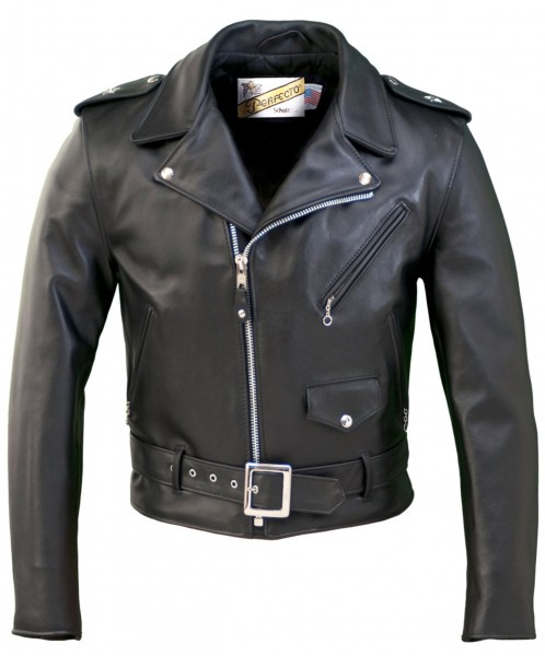 Schott NYC One Star Perfecto Leather Motorcycle Jacket - schwarz