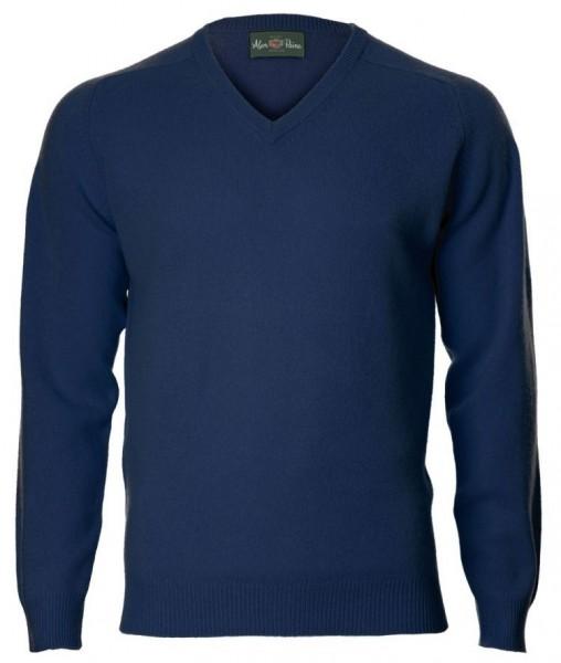 Alan Paine Kilsyth Lambswool-Pullover V-neck - Indigo