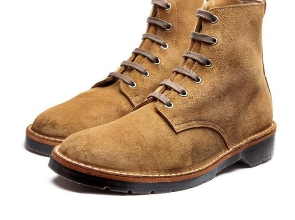 105-012 Tan Suede 6 Eye Derby Boot