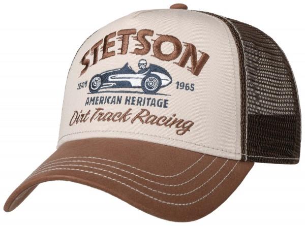 Stetson Trucker Cap Dirt Track Racing - brown
