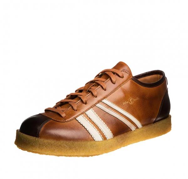 Zeha Trainer low - cognac / cream / brown-Copy