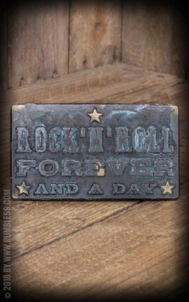 Rumble59 Buckle Rock'n'Roll Forever - Vintage Patina
