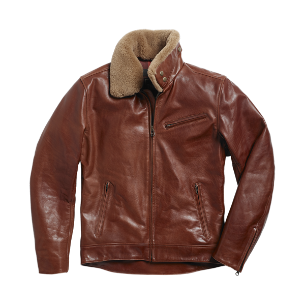 Triumph Motorcycles Harlow Flight Jacket - Brown