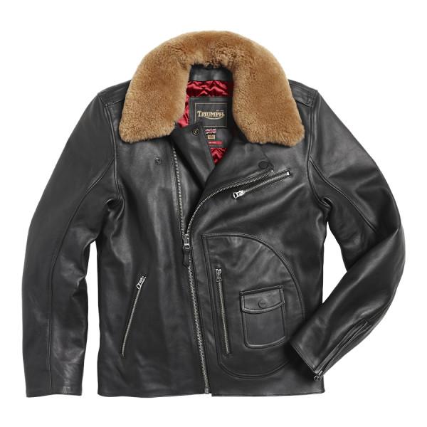 LLEA2112 Triumph Motorcycles Rexford Leather Jacket - BLACK