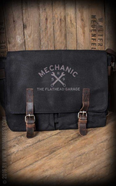 Rumble59 Canvas Workerbag The Flathead Garage - schwarz