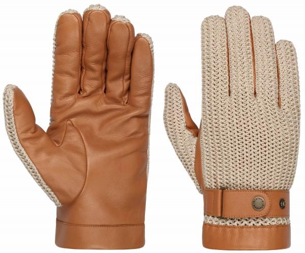 Stetson Handschuhe Schaafs-Nappa & Strick - beige