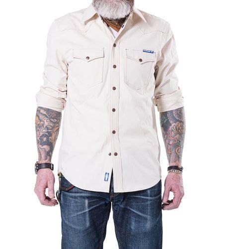 Blaumann Jeans Hemd Ecru schmal