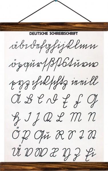 Vintage Lehrtafel  - Deutsche Schreibschrift