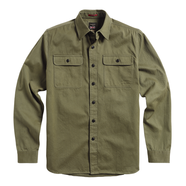 Triumph Motorcycles Shirt  Whithworth Heavy Twill - Olive