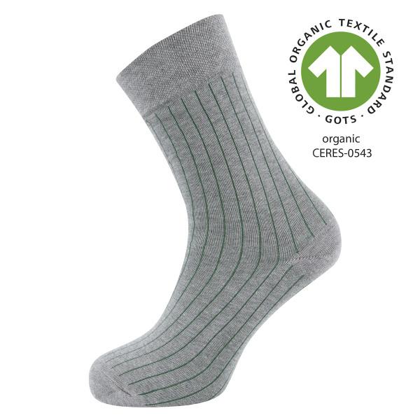 701016-3400 Ewers - Socken GOTS Rippe - GRAU-MELIERT