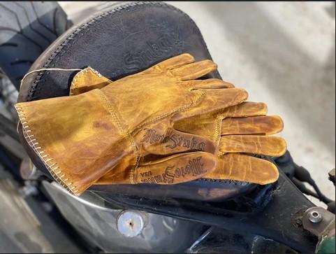 MotoStuka Shanks Gauntlet Gloves - Bronze