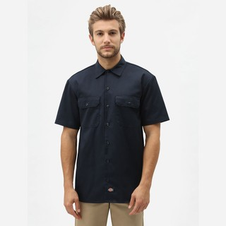 Dickies Short Sleeve Work Shirt - Dark Navy