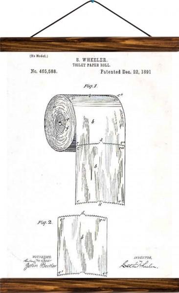 Vintage Lehrtafel  - Toilet paper patent