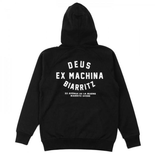 T_DMW48675S Deus Ex Machina Biarritz Hoodie - black
