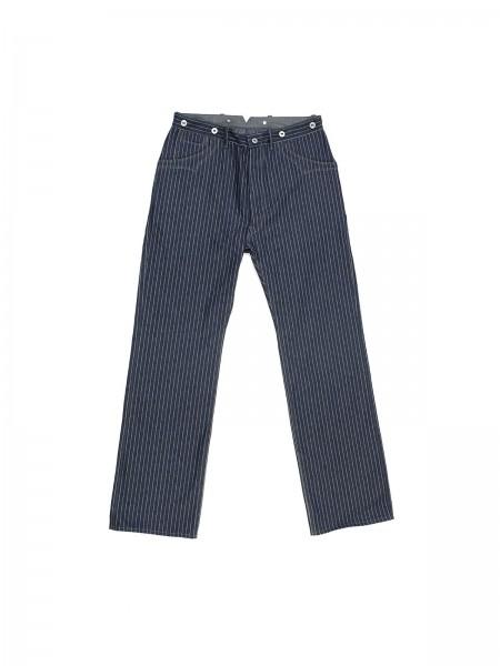 Blue Blanket - IJ1 Striped Denim Pants - 11 oz
