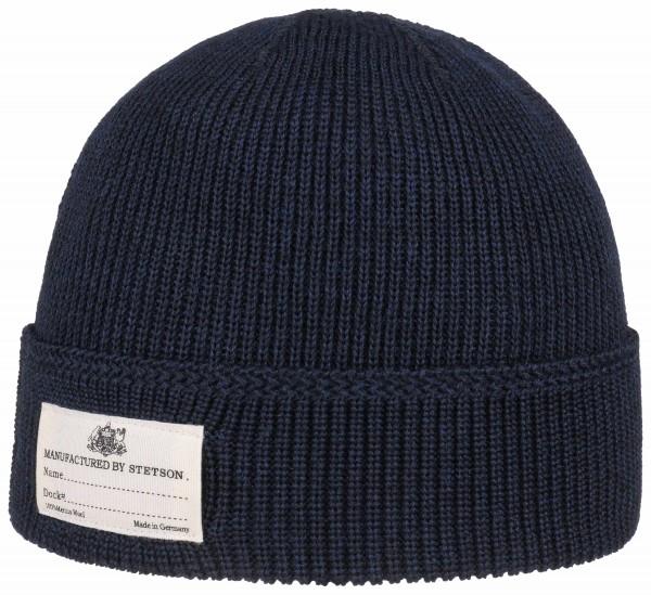 Stetson Beanie Merino Wool - navy