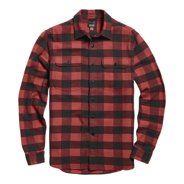 Triumph Motorcycles Dual Shock Super Soft Gingham Checked Shirt - Red