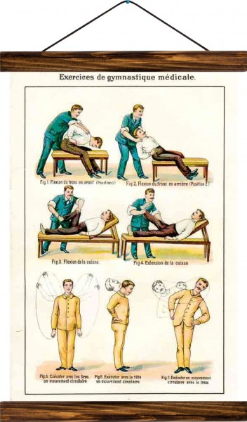 Vintage Lehrtafel  - Gymnastics