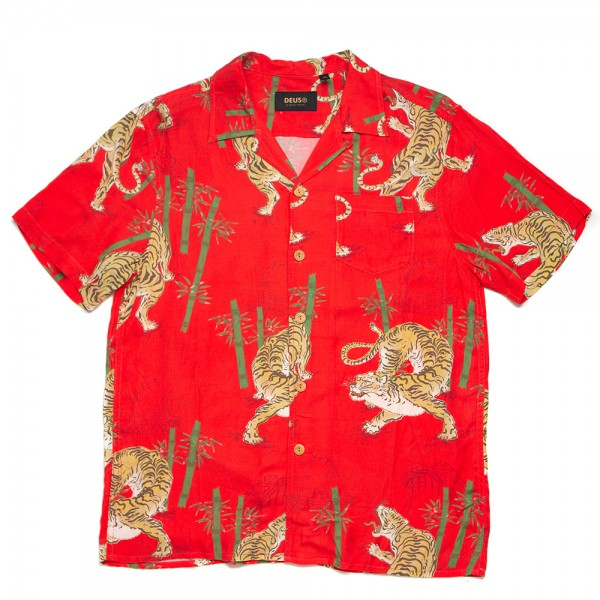 DMS205972 Deus Ex Machina Solstice Ss Shirt - washed Poppy Red