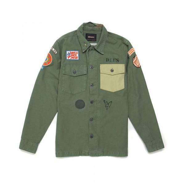 DMP2051125 Deus Ex Machina Monty Overshirt - CLOVER