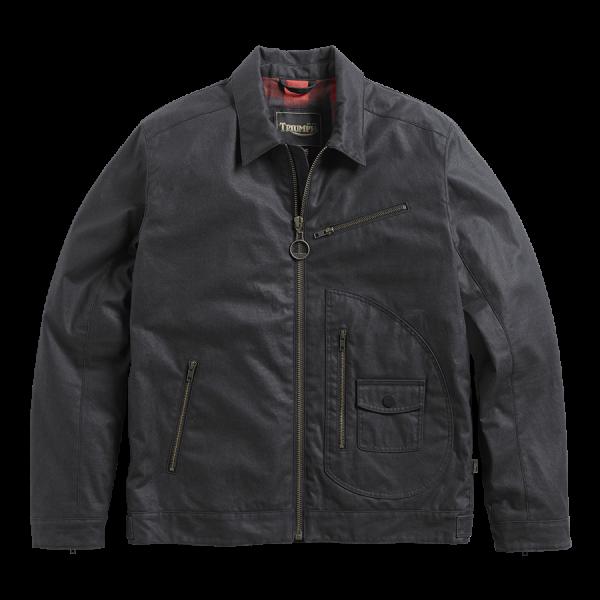 Triumph Motorcycles Jacket  Deacon Waxed Cotton - Black