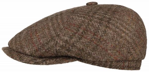 Stetson 6-Panel Cap Harris Tweed - brown