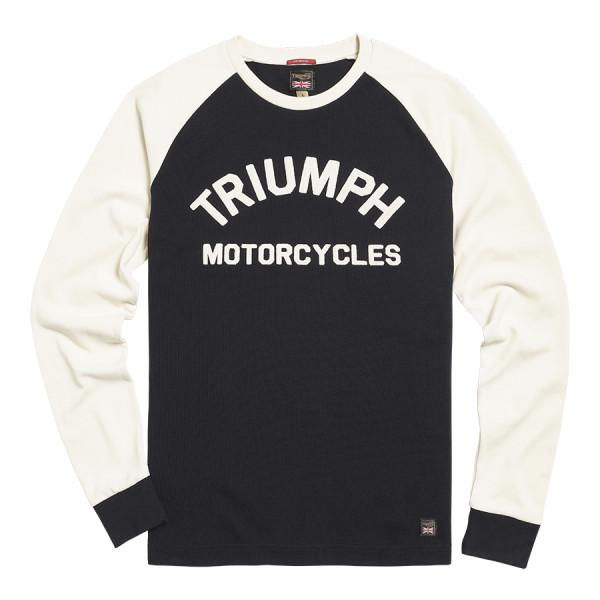 Triumph Motorcycles Randalby Double Pique Long Sleeve - Black-White