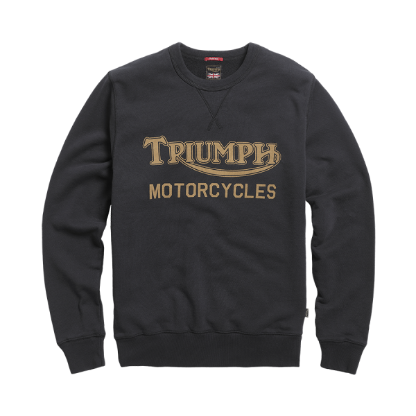 Triumph Motorcycles Radial Crew Sweatshirt - Black/Gold