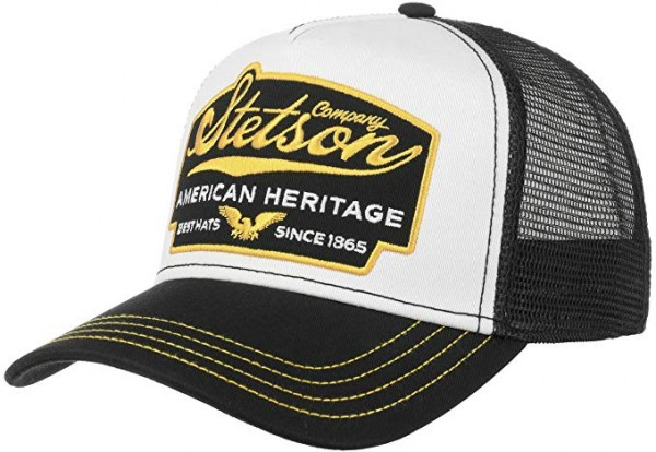 Stetson Trucker Cap American Heritage - schwarz
