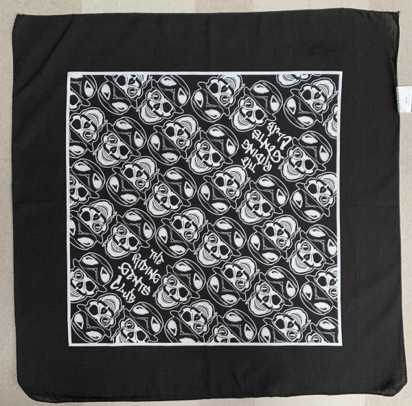 Riding Gents Bandana Skull - Midnight Black