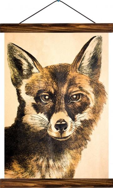 Vintage Lehrtafel  - Fox