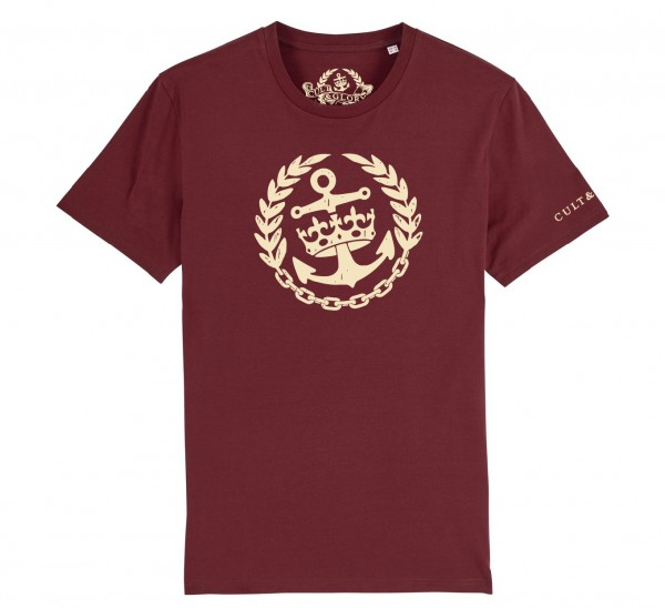 Cult & Glory Crown & Anchor Shirt 2019 - Oxblood Red