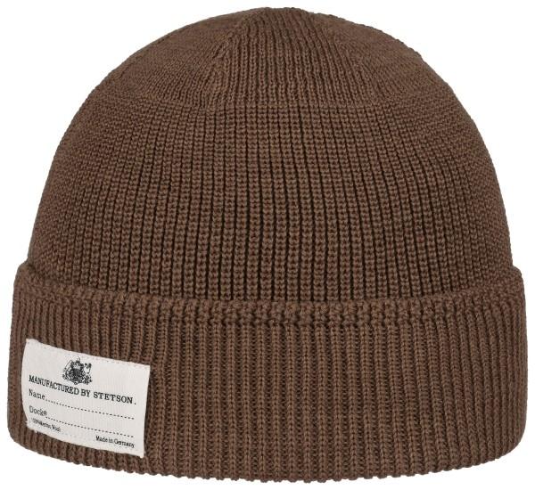 Stetson Beanie Merino Wool - brown