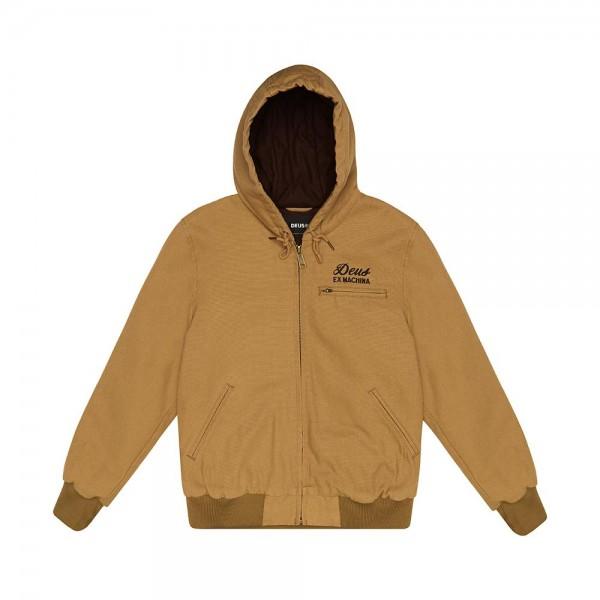 Deus Ex Machina Franklin Hooded Jacket - Driftwood Tan