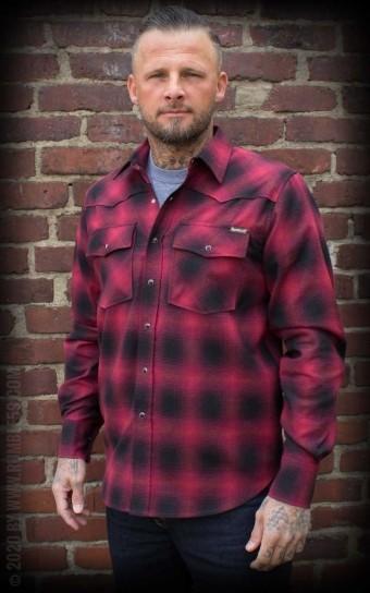 Shadow Plaid Shirt | Karohemd, rot/schwarz