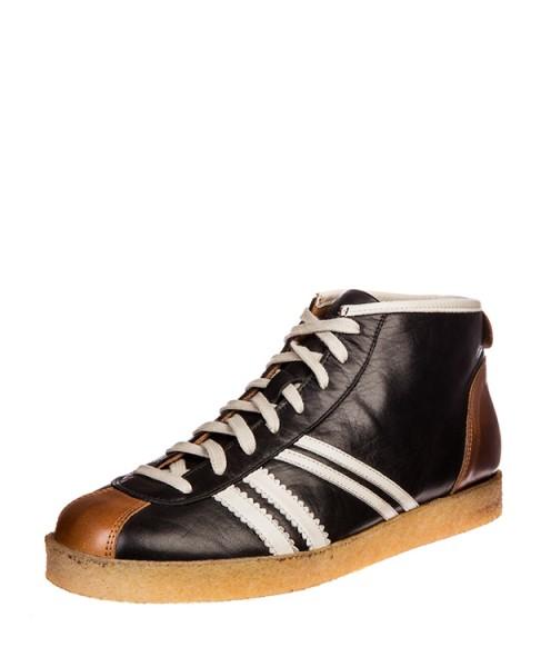 Zeha Trainer high - black / cream / congnac