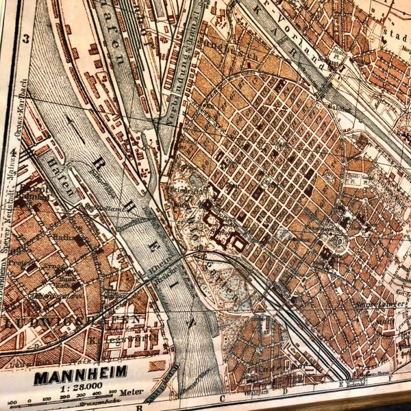 Vintage Lehrtafel  - Mannheim