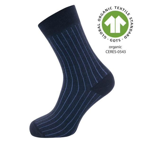 701016-1139.navy Ewers - Socken GOTS Rippe - NAVY