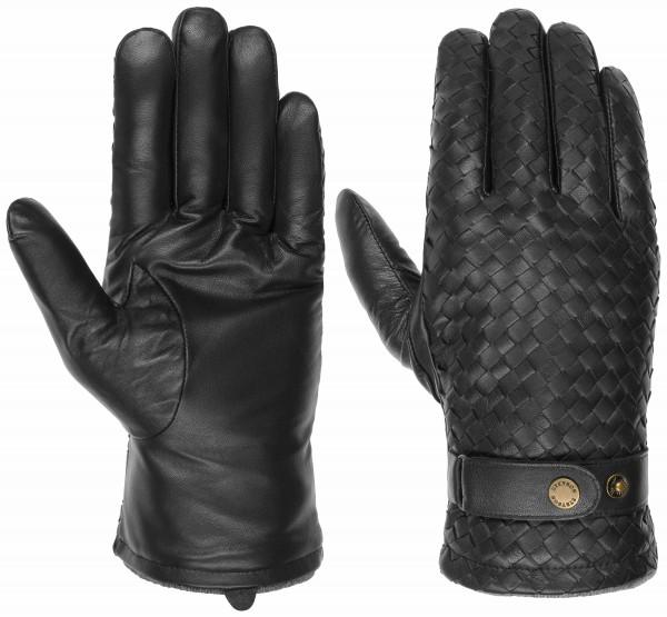 Stetson Handschuhe Schaafs-Nappa geflochten - dunkelbraun