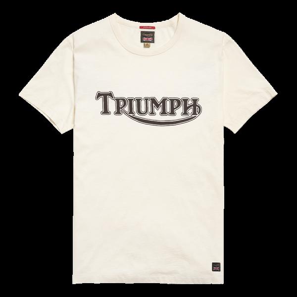 Triumph Motorcycles Fork Seal Heritage Logo Tee - BoneWhite