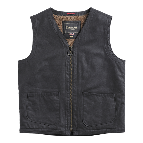 Triumph Motorcycles Clayton Casual Waxed Vest - Black
