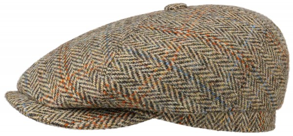 6-Panel Cap Harris Tweed Fischgrat beige